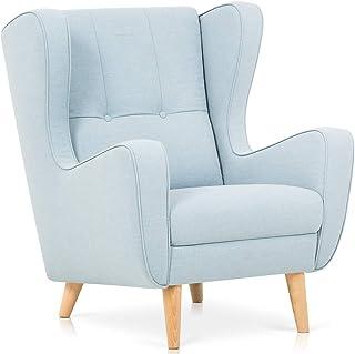 Confort24 Doris Sillon Relax Sillon Orejero Butaca Sillon Lactancia Materna Lectura Salón o Dormitorio (Azul)