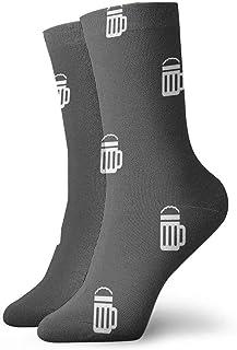 tyui7, Calcetines de compresión antideslizantes con patrón de cerveza Calcetines deportivos acogedores de 30 cm para hombres, mujeres, niños