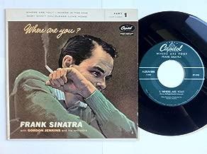 frank sinatra where are you vinyl