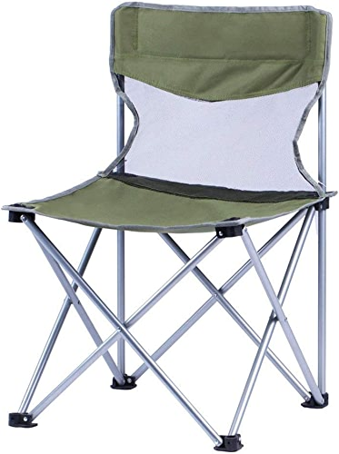 QMJHL Pied en métal Chaise Pliante Bureau Chaise Simple Chaise en Plein air Croquis Tabouret Pliant portable de pêche en Plein air portable (Peut résister à 100KG).