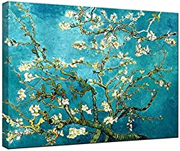 Wieco Art Almond Blossom By Vincent Van Gogh Oil Paintings Reproduction Modern Extra Large Framed Floral Giclee Canvas Prints Flowers Pictures on Canvas Wall Art for Home Office Decorations XL