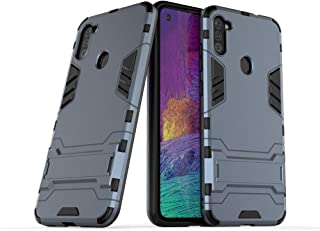 Case for Samsung Galaxy A11 (6.4 inch) 2 in 1 Shockproof with Kickstand Feature Hybrid Dual Layer Armor Defender Protectiv...
