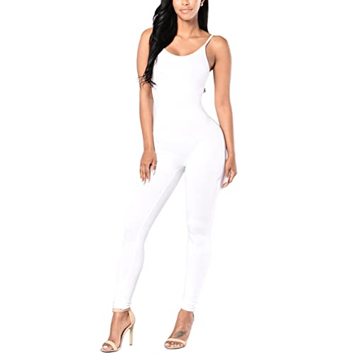 803010844e7 Amilia Womens Spaghetti Strap Bodycon Tank One Piece Jumpsuits Rompers  Playsuit