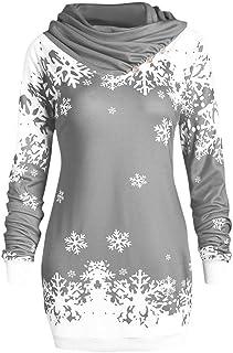 Mujer Sudaderas Navidad Sudadera con Capucha Pullover de Fiesta Cómodos Jerseys Casuales Estampada Caliente Suéter Ropa de...