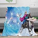 Elliot Dorothy Frozen Elsa and Anna - Póster de película de forro polar, tamaño manta impresa manta transpirable, acogedora manta de cama de 152 x 203 cm