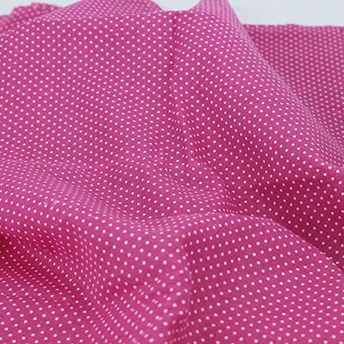 Worldcom Generic Cotton Fabric for Patchwork and Crafts Warm Pink Series Small Piece 24x24cm Pink