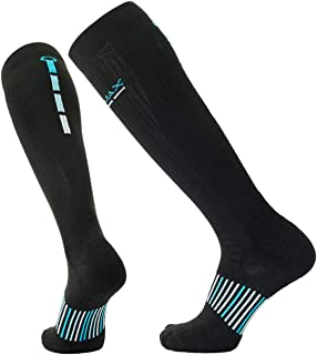 COOLMAX Brand 3 pairs Performance compression (15-20 mmHg) cushion over the calf socks for Men & Women