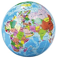 Bunter Globus Springball