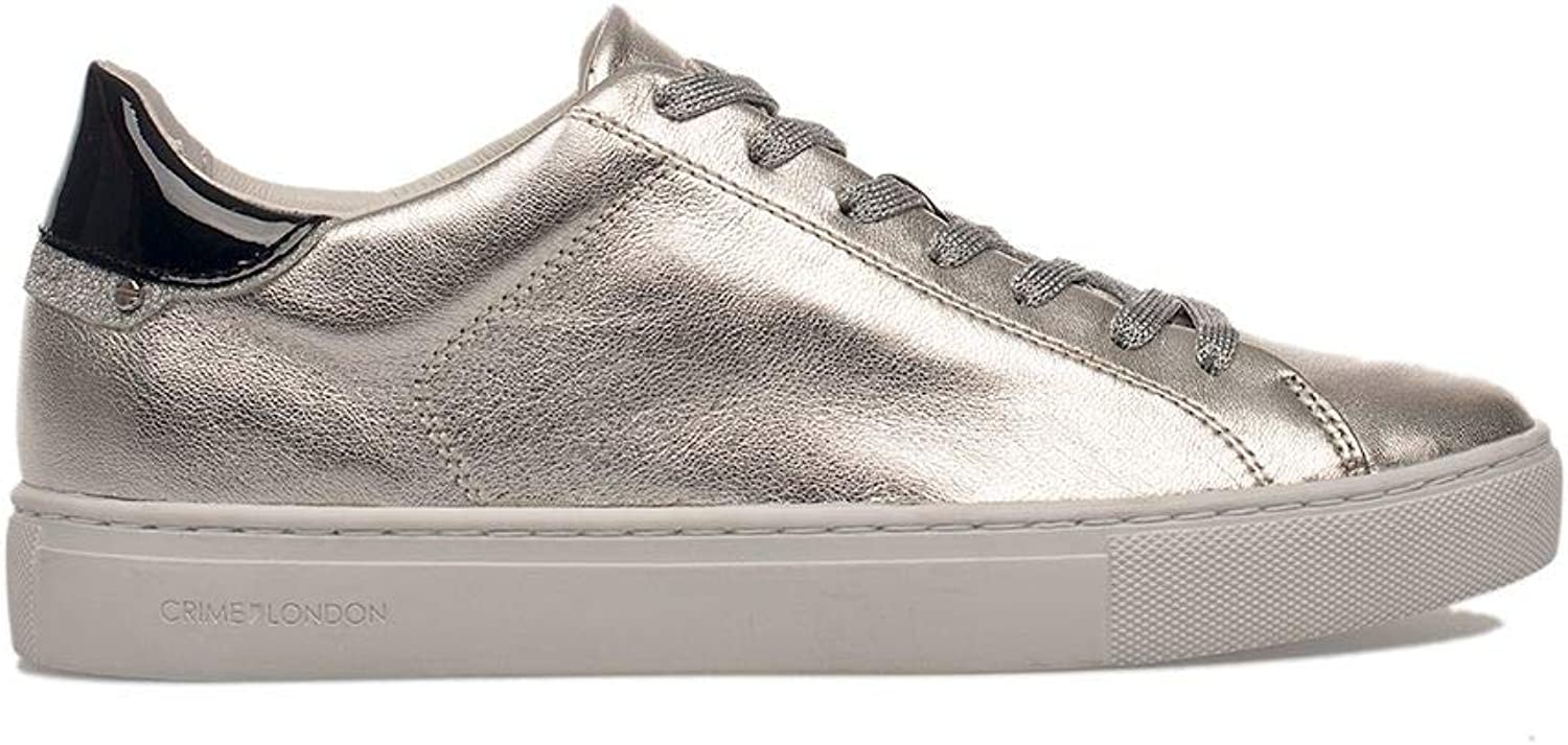 Crime London Women's 25101PP126 Silver Leather Sneakers