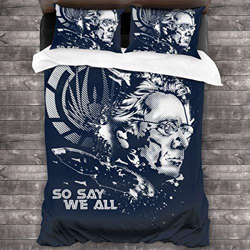 KUKHKU Battlestar Galactica So Say We All Juego de ropa de cama de 3 piezas con funda de edredón de 86 pies x 70 pies, juego de cama decorativo de 3 piezas con 2 fundas de almohada
