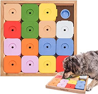 Dog' SUDOKUスライドパズル カラフル ジーニー 嗅覚と頭を使って楽しくおやつ探し 木製 知育玩具 トレーニング 訓練 しつけ ストレス解消 運動不足 認知症予防 犬 早食い防止 おもちゃ 知育トイ ゲーム
