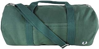 Fred Perry Mens Branded Duffle Bag - Tartan Green