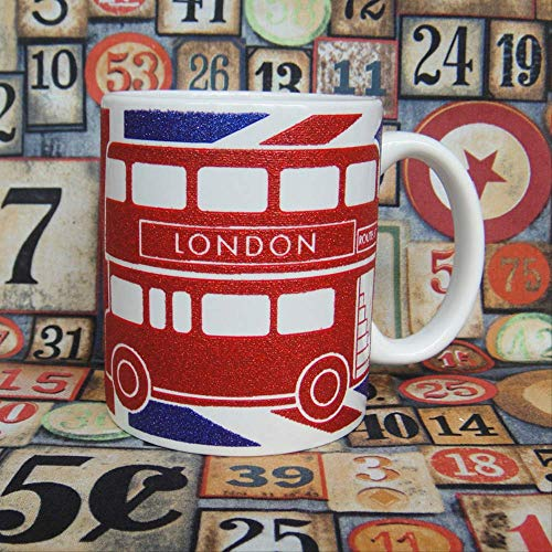 London Bus Tour Memorial Ceramic Cup in Londen, UK