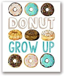 Li-Never Donut Word Art Bundle Party Art Canvas Painting First Birthday Celebration Doughnut Event Decoration Donut Grow Up Poster Prints,20X25 cm No Frame,Ph2908