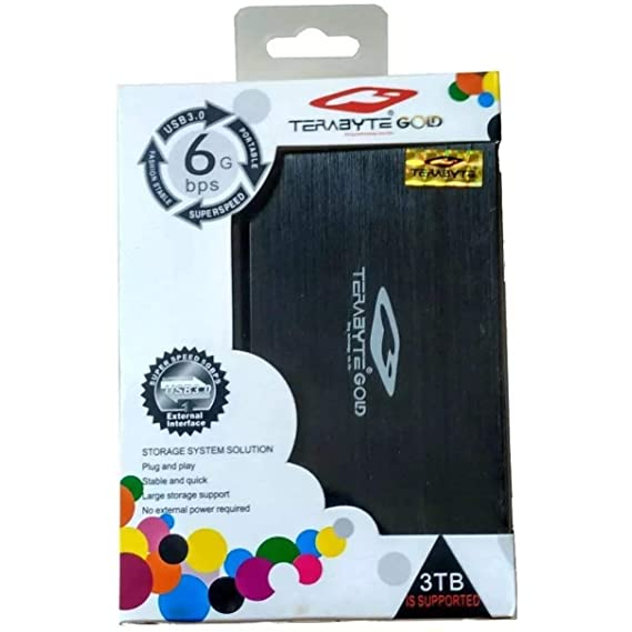 World Shopper Terabyte 2.5-inch USB 3.0 Hard Drive SATA Portable Casing Enclosure (Multciolour)