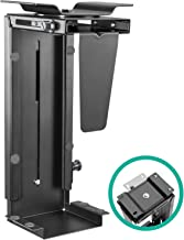 EleTab Adjustable Under Desk Computer Mount Wall PC Mount Computer Case Holder with 360-degree Swivel