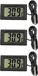 uxcell Temperature Gauge Aquarium Thermometer Celsius with Probe for Fish Tank 3pcs