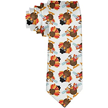 Mens Happy Thanksgiving Day Pumpkin Fashion Casual Tie Necktie