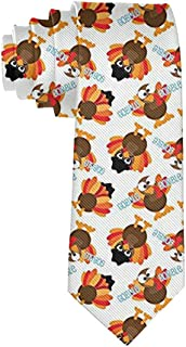 Tie Funny Neckties Colorful Thanksgiving Funny Turkey Fashion Wide Novelty Neck Ties For Men teen