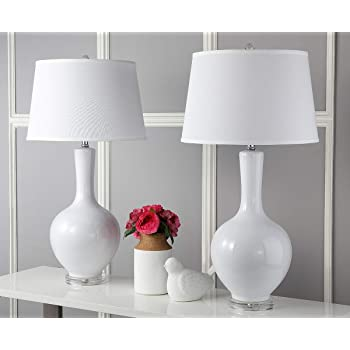 Safavieh Lighting Collection Blanche Gourd White 32-inch Table Lamp (Set of 2)