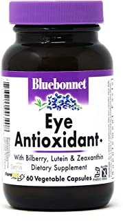 BlueBonnet Eye Antioxidant with Zeaxanthin Formula Vegetarian Capsules, 60 Count