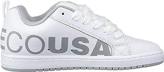 DC Men's Court Graffik SE Skate Shoe, White/Red/Grey, 10.5D M US