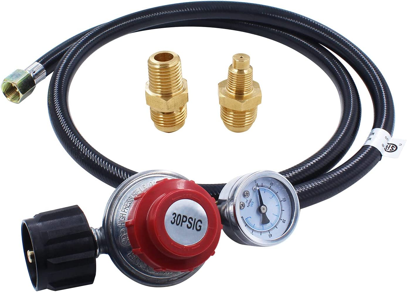 MOFLAME shop 4 FT 0-30 OFFer PSI High Propane Pressure Adjustable Regulator