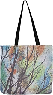 Fabric Textile Abstract Pattern Vivid Color Macro Canvas Tote Handbag Shoulder Bag Crossbody Bags Purses For Men And Women Shopping Tote