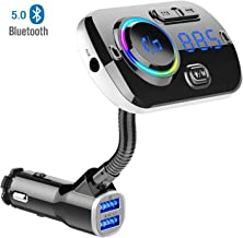 Chargeur Transmetteur FM Chargeur Transmetteur FM Bluetooth /à Suppression de Bruit Double USB EBTOOLS Voiture Transmetteur FM MP3