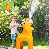 BATURU Dinosaur Toys, Toddler Toys, Kids Toys, Outdoor Toys, Toys for Boys, Dinosaur Toys for Kids 3-5-8, Sprinkler for Kids, Inflatable Sprinkler Water Toys for Pool & Lawn