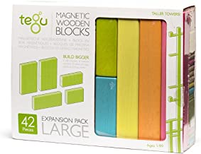 42 Piece Tegu Magnetic Wooden Block Expansion Pack Large, Tints