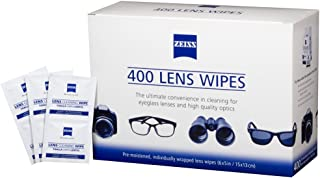 Zeiss Pre-Moistened Lens Cleaning Wipes 6 x 5-Inches