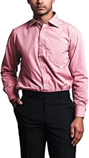 G-Style USA Men's Regular Fit Long Sleeve French Convertible Cuff Dress Shirt