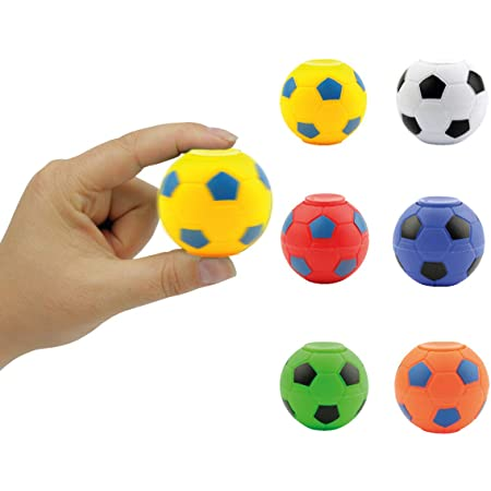 6pcs Fidget Spinner Toy Balls Stress Relief Balls for Adults,Kids,EDC,ADHD,Anxiety and Autism Color Random