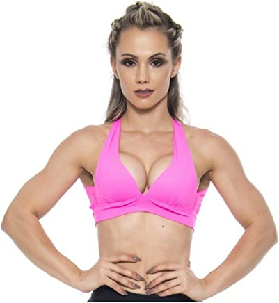 BFB Activewear Sports Bra Sexy Push-up Hot Pink -Sexy Workout Top 9410e062e39