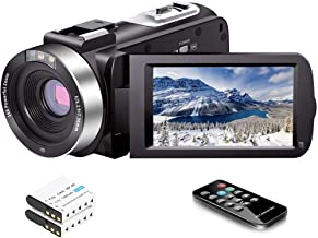 Video Camera Camcorder Full HD 1080P 30FPS 24.0 MP IR Night Vision Vlogging Camera Recorder 3.0 Inch IPS Screen 16X Zoom C...