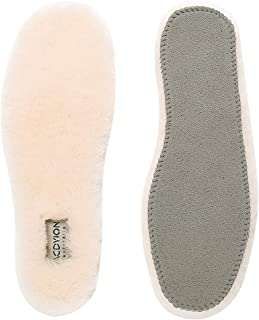 Natural Sheepskin Insoles Men's & Women's - Acdyion Super Warm Cozy & Fluffy Premium Thick Wool Fur Fleece Insoles for All Shoes