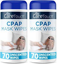 Care Touch CPAP Mask Cleaning Wipes - Unscented | 2 Packs of 70 Unscented Cleaning Wipes for CPAP Masks (140 Total) | Made...