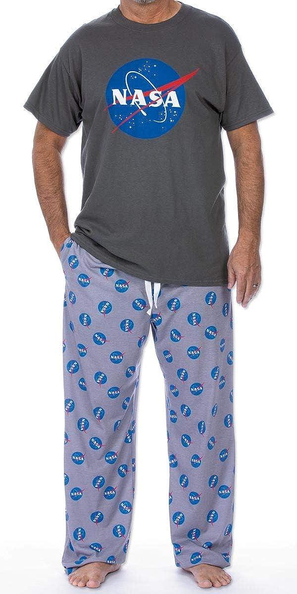 ComputerGear Mens Pajama Set Short Sleeve Top PJ Pants with Side Pockets Womens Unisex