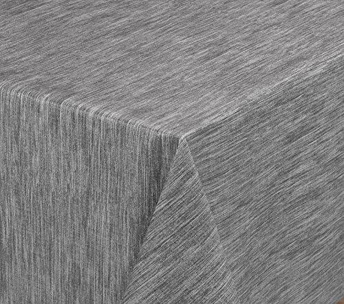 BEAUTEX Wachstuchtischdecke rund oval eckig, Georginias Tischdecke abwischbar LFGB, Farbe und Größe wählbar (Eckig 220x140 cm Grau)