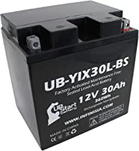 UB-YIX30L-BS Battery Replacement for 1973 BMW R75/6 750 CC Motorcycle - Factory Activated, Maintenance Free, Motorcycle Battery - 12V, 30AH, UpStart Battery Brand