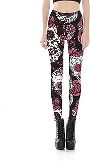 JIAYIQI Women's 3D Pattern Printed Stretch Skinny Footless Leggings Halloween Pants