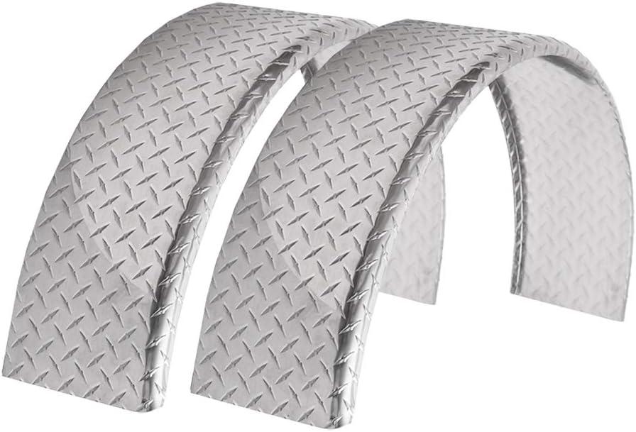 ToughGrade 2-Pack Aluminum Diamond Plate Minneapolis Save money Mall Trailer Fende Top Round