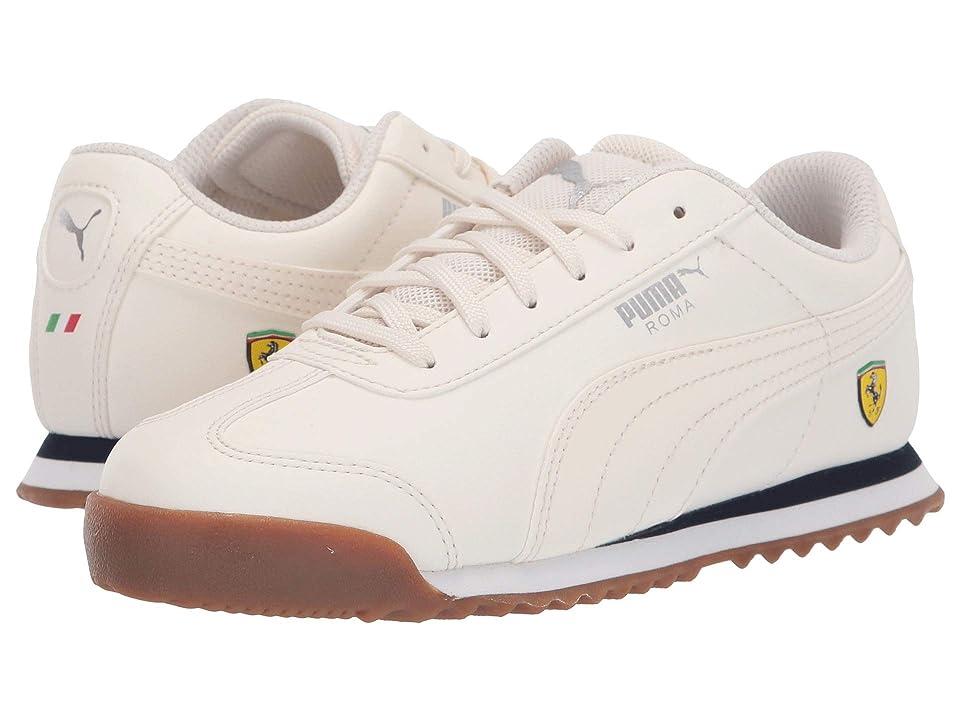 Puma Kids Ferrari Roma (Little Kid) (Whisper White/Whisper White) Boys Shoes