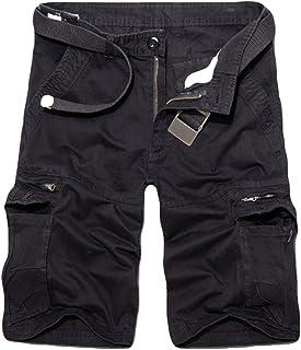 922b4735372f4 ZKOO Militaire Cargo Shorts Hommes Bermuda Shorts avec Multi Poches Eté  Pantacourt Shorts Court Pantalon de