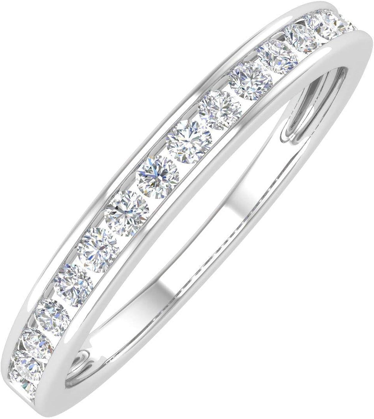 1/4 Carat Channel Set Diamond Ladies Anniversary Wedding Band in 10K Gold