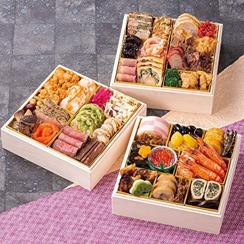 北海道 北のシェフ おせち料理 2021 和洋肉 三段重 43品 盛り付け済み 冷蔵おせち 2人前〜3人前 和風 洋風 お肉 お届け日:12月31日