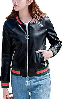 Women's Short Thin Contrast Color Zipper Pocket Baseball Uniform Jacket