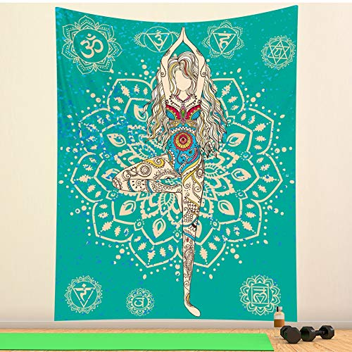 MGHYEQ tapizTapiz de Mandala Misterioso Indio decoración de Pared Tapiz de brujería Hippie Bohemio decoración del hogar colchón Estera de Yoga