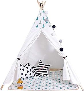 Vobajf Barn lektält tipi-tält bärbart bomullstält för baby inomhus och utomhus leker perfekt storlek för barnrum festlektä...